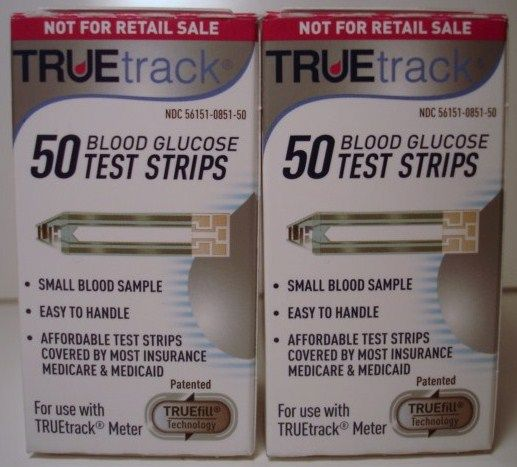 True Track Diabetic Test Strips