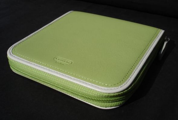 Coach Mint Leather CD Travel Case