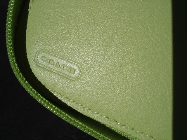Coach Mint CD Case Inside Embossing