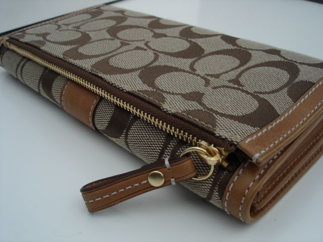 Coach Hamptons Signature Checkbook Wallet Back