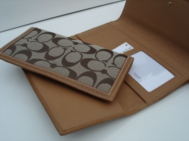 Coach Checkbook Wallet Inside and Insert Holder
