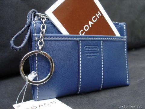Blue Leather Mini skinny 3484