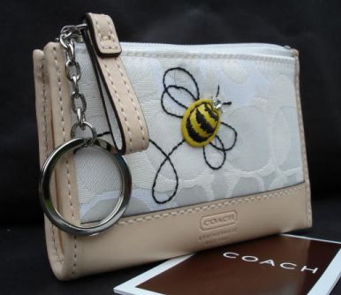 Coach Optic Applique Bee Mini Skinny White