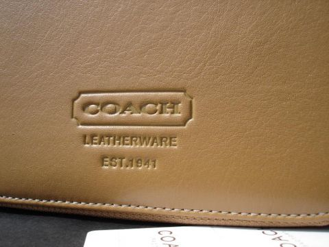 Coach Close Up Embossing CD Travel Case