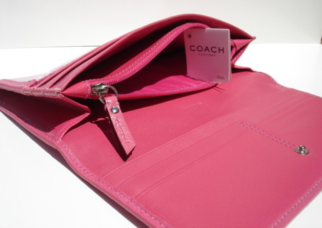 Coach Slim Envelope Wallet Inside Paper Money Sleeves