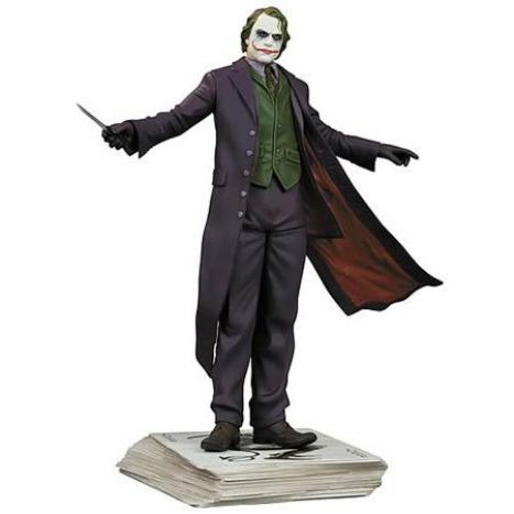 Dark Knight 10 inch Joker Statue Standing with Knife