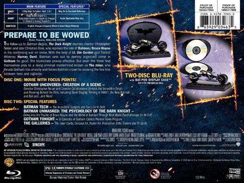 Dark Knight Blu-Ray Limited Edition DVD