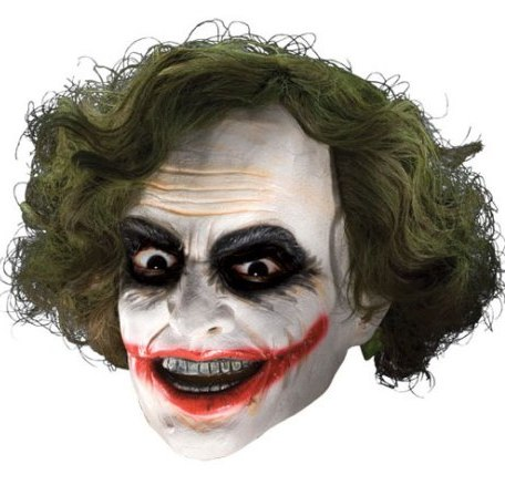 Dark Knight Joker Adult Mask with Hair