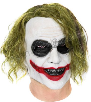 Dark Knight Joker DLX Costume Mask with Hair