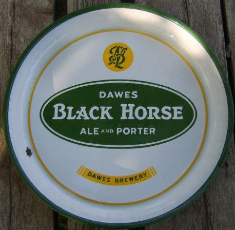 Dawes Black Horse Ale and Porter Vintage Beer Serving Tray