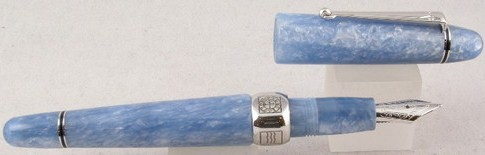 Delta Capri La Piazzetta Light Blue Silver fountain Pen