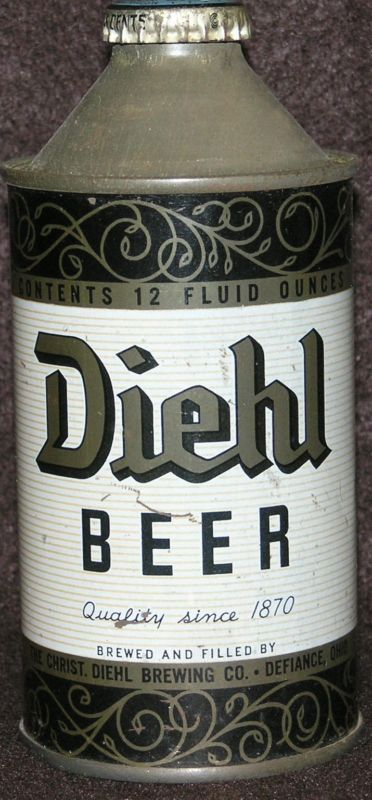 Collectible Diehl Beer Cone Top
