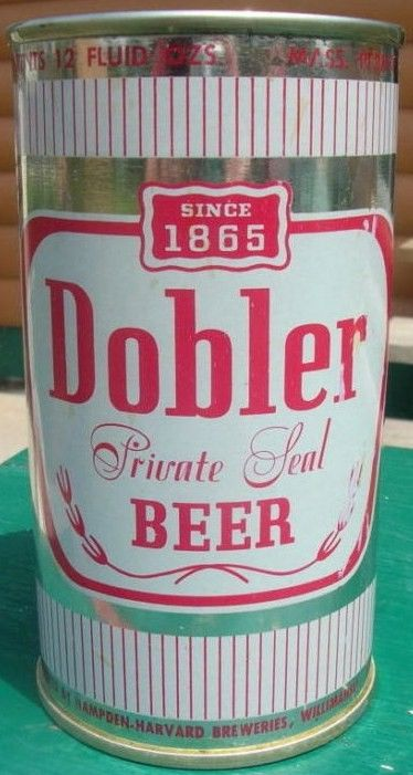 Dobler Private Seal Flat Top Beer Can