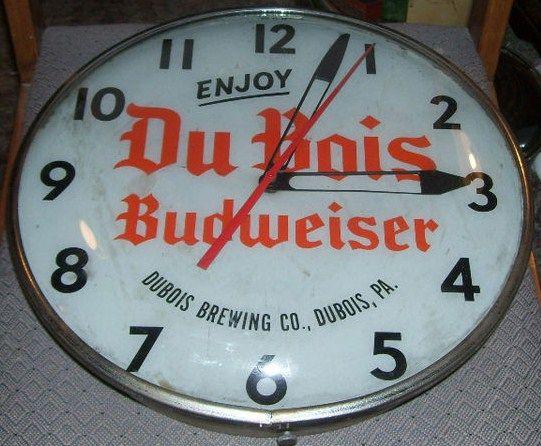DuBois Budweiser Beer Clock 1950s