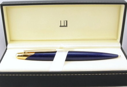 Dunhill AD2000 Azure Blue Gold 9mm Pencil w/Box