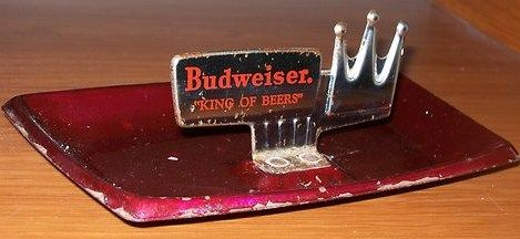 Early Budweiser Crown King of Beers Ashtray