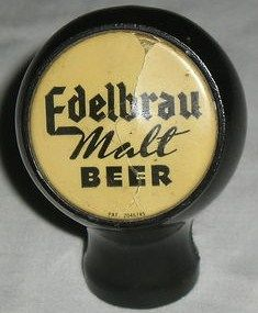Edelbrau Malt Beer Brooklyn NY Ball Style Tap Knob