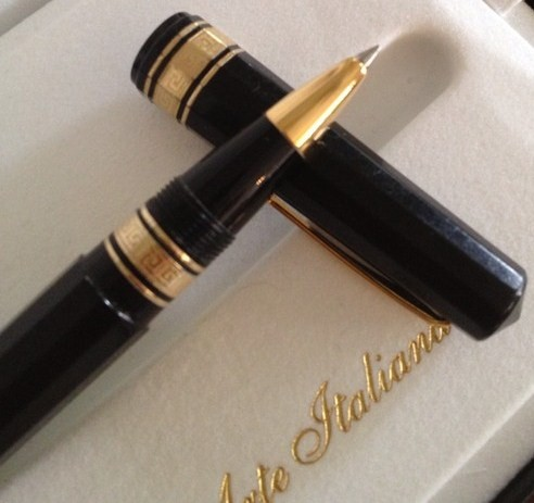 Vintage OMAS Paragon Rollerball w/Boxes & Papers