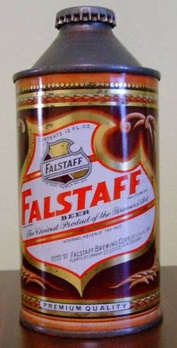 Vintage Falstaff Beer Cone Top Can