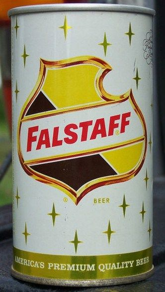 Falstaff Zip Tab Top Beer Can Omaha Nebraska Front