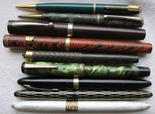 Antique Fountain Pen Lot/Sheaffer, Lifetime, Waterman, Parker