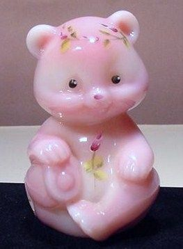 Fenton Hand Painted Rosaline Bear