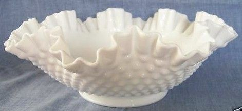 Fenton Hobnail Milk Glass Extra Large Bowl