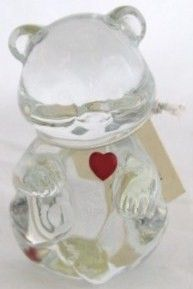 Fenton January Bear with Garnet Birthstone