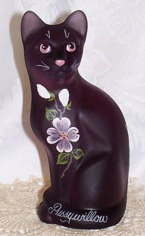 Fenton Rare Aubergine Satin Pussywillow Cat