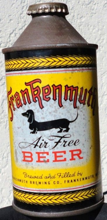 Frakenmuth Air Free Cone Top Beer Can