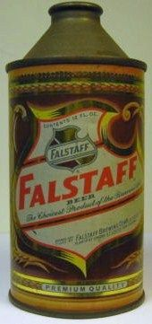 Falstaff 12 Oz Cone Top Beer Can Front