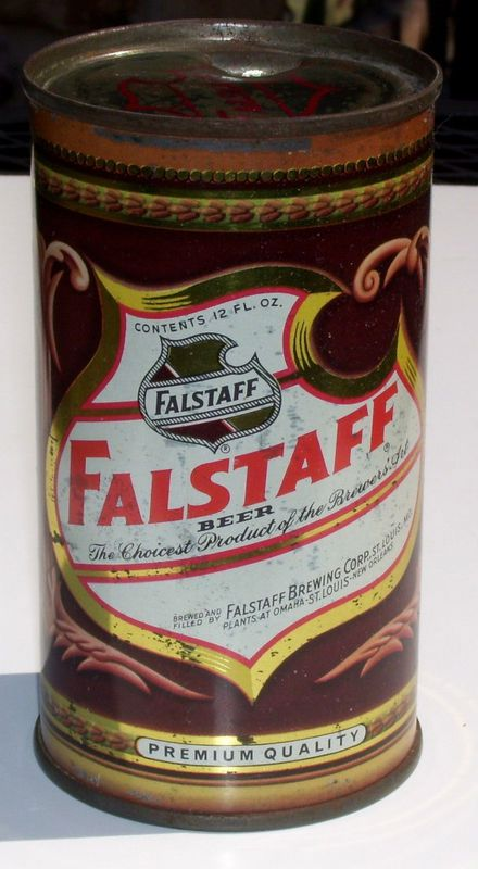 Falstaff Flat Top Beer Can St Louis Missouri Vanity Top