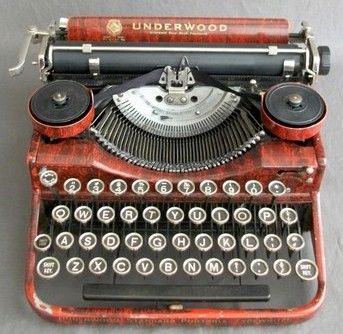 Faux Bois Underwood Typewriter