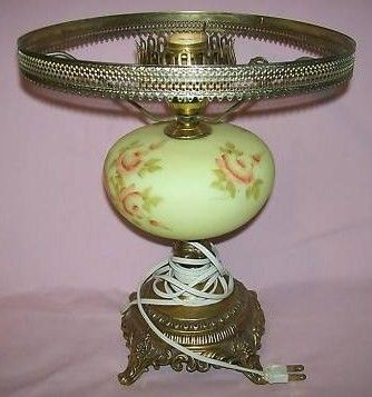 Fenton Art Glass Rose Burmese Student Lamp Base