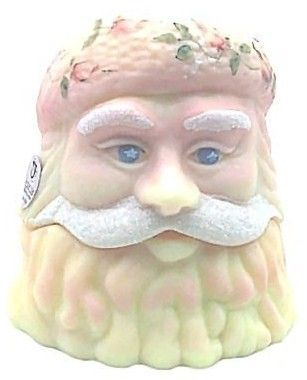Fenton Burmese Santa Head Fairy Lamp