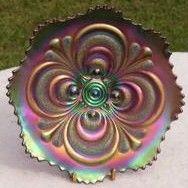Fenton Carnival Glass Scroll Embossed Plate