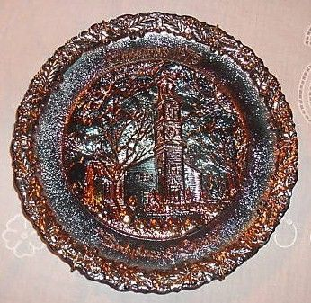 Fenton Church Christmas 1975 Collectible Plate