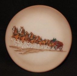 Fenton Collectible Budweiser Plate Clydesdale Horses