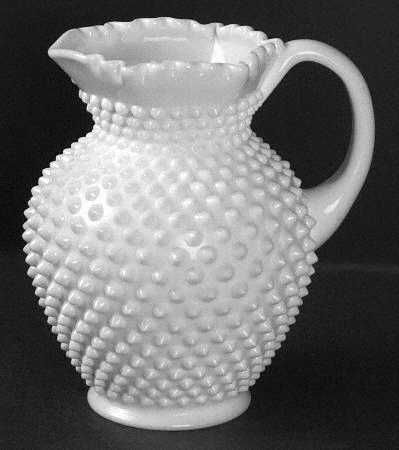 Fenton Hobnail Milk Glass Pitcher
