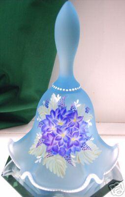 Fenton OOAK Celeste Blue Bell