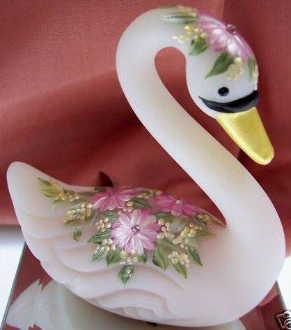 Fenton OOAK Rosalene Swan