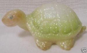 Fenton Opal Glass Turtle