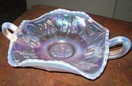 Fenton Opalescent Candy Dish with Butterflies