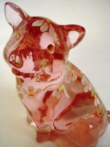 Fenton Posy The Little Pink Pig Art Glass Figurine