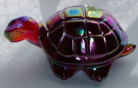 Fenton Ruby Red Carnival Turtle