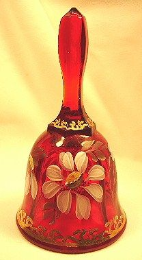 Fenton Ruby Red Gilded Daisy Bell