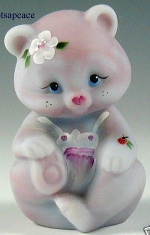 Fenton Art Glass Bear Figurine