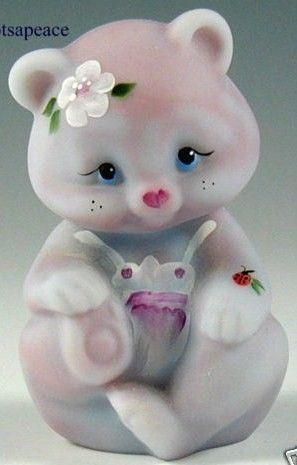 Fenton Art Glass Bear Figurine