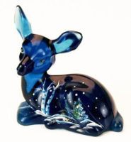 Fenton Silver Birch on Indigo Blue Fawn