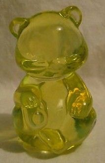 Fenton Topaz Opalescent Bear